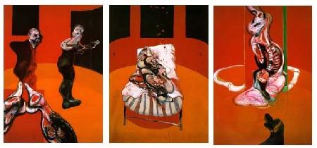 Bacon, Trois études de personnages au pied d'une crucifixion (1962)
