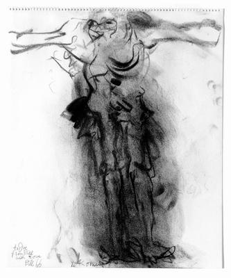 De Kooning. Untitled (crucifixion) (1966)
