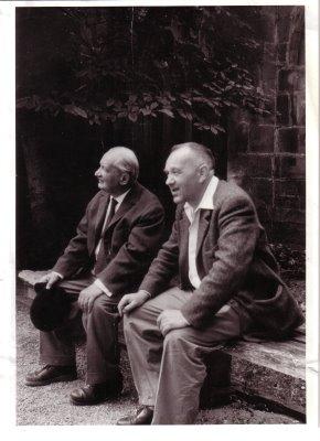 Heidegger et Beaufret à Cerisy en 1955