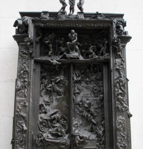 La porte de l'Enfer, Musée Rodin, Paris (photo A.G.)