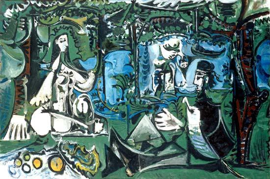 Picasso Le déjeuner sur l'herbe 1961