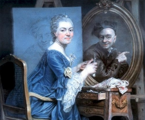 Maurice quentin de la tour l 39 auteur qui rit philippe for Autoportrait miroir