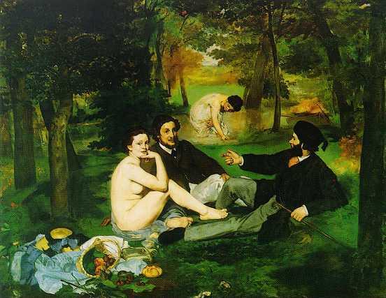 Manet Le déjeuner sur l'herbe 1862