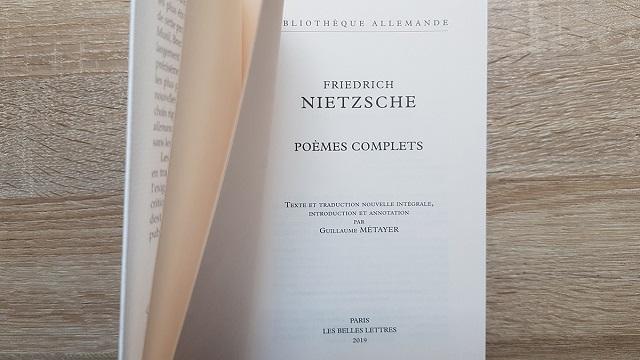 Les Poèmes Complets De Frédéric Nietzsche Inédit