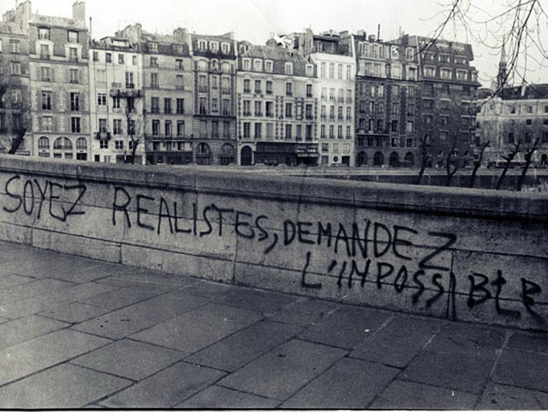 """Résultat de recherche d'images pour """"citation 1968 soyons réalistes demandons l'impossible"""""""